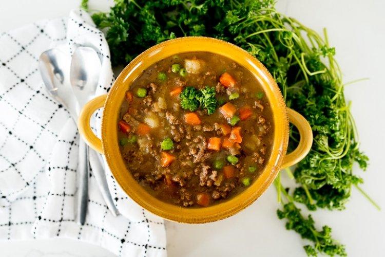 Лесна супа с кайма