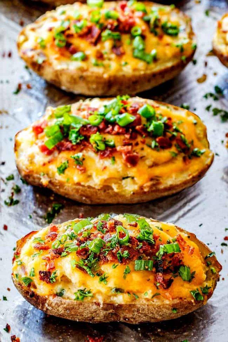 Пълнени картофи с овесени ядки